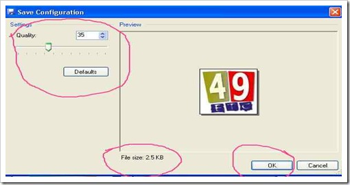 How to resize picture with in given dimension keep in mind the file size