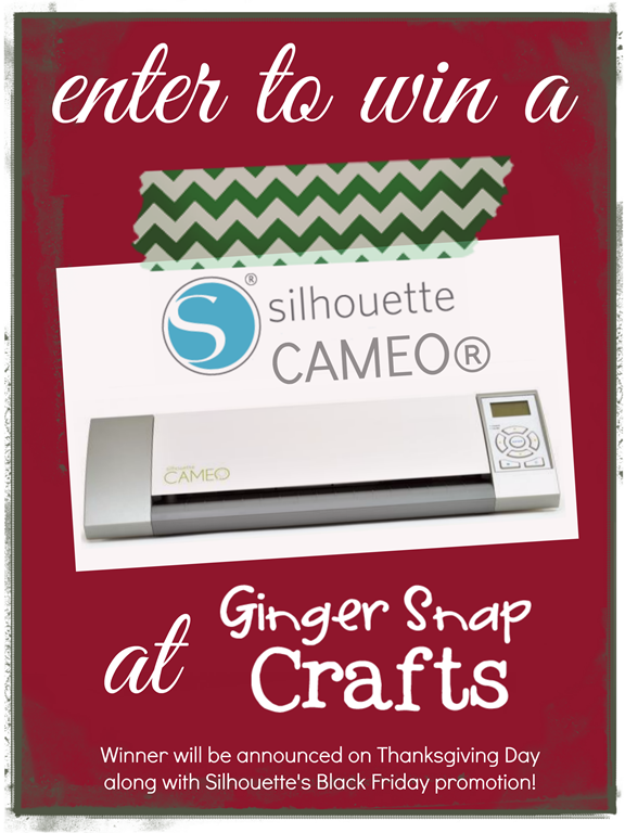 Silhouette Cameo Giveaway at GingerSnapCrafts.com #spon