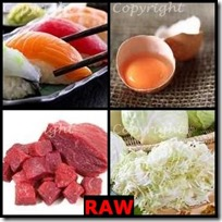 RAW- 4 Pics 1 Word Answers 3 Letters