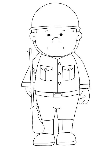 Dibujos De Soldados Para Colorear
