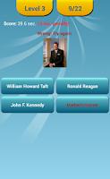 Screenshot of US Presidents Quiz