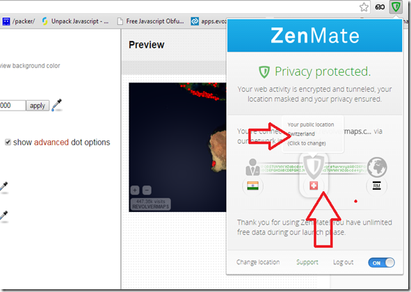 CHANGE/HIDE YOUR IP ADRESS USING ZENMATE SECURITY PRIVACY - GOOGLE