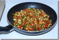 Chicken and veggie filling