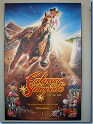 9865 Alberta Calgary Tower - Calgary Stampede poster on Observation deck