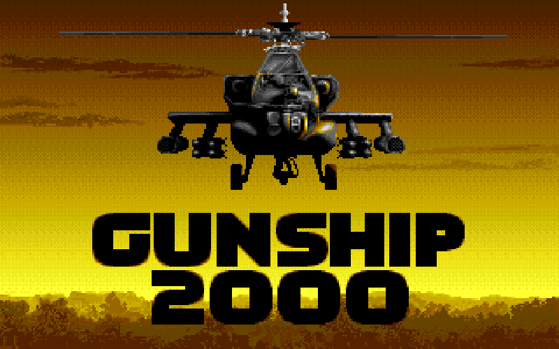 Indie Retro News: Gunship 2000 - A Helicopter simulation from the