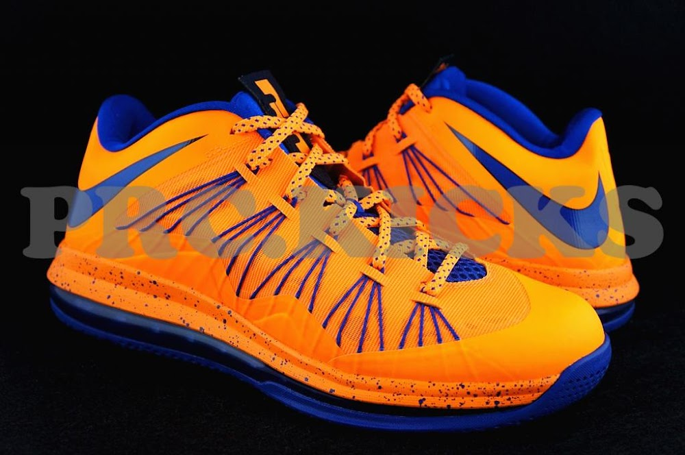wholesale dealer c024d f83ef Nike Air Max LeBron X Low 8211 Orange Blue 8211 Official Release Date ...