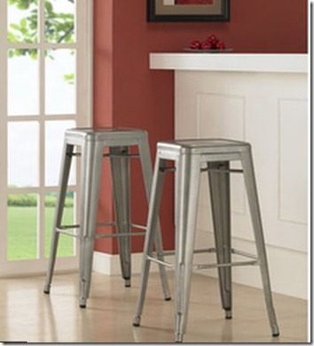 industrial style bar stools from Overstock