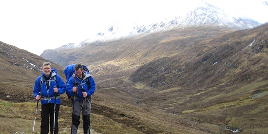 Howard & Hilda in the Lairig Leacach