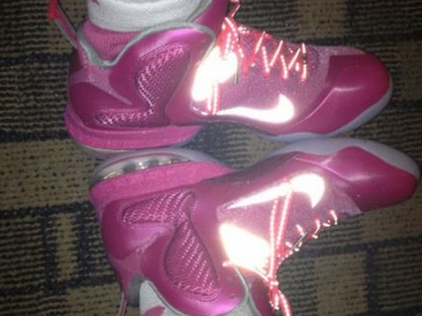 more photos 6eb8e d8989 First Look at Nike LeBron 9 Breast Cancer / Think Pink PE ...
