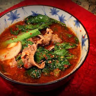 Taiwanese Satay Soup.
