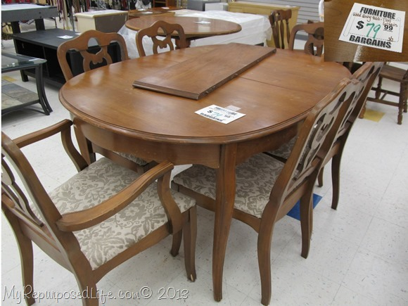 thrift store dining table