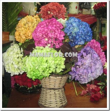 Arreglo Florar Con Hortensias De Colores Manualidades Mamaflor - Color-de-las-hortensias