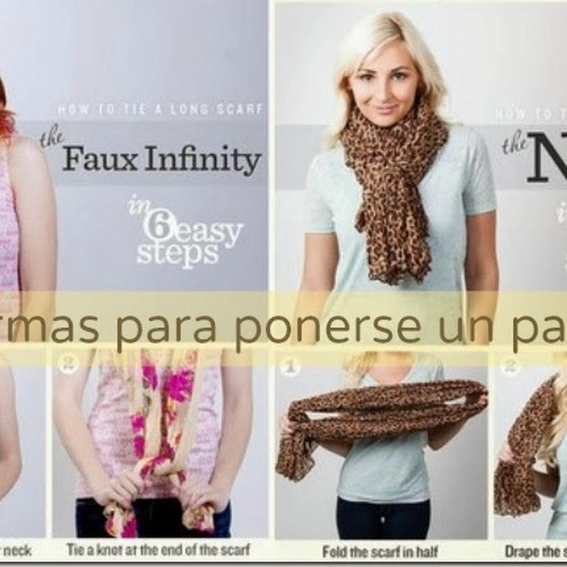 10 formas distintas de ponerse un panuelo-scarf