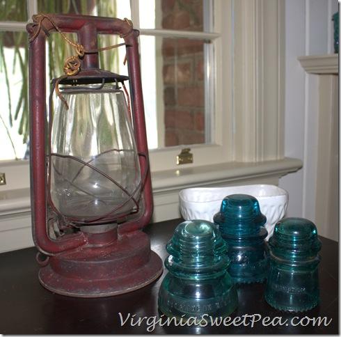 Lantern and blue insulators