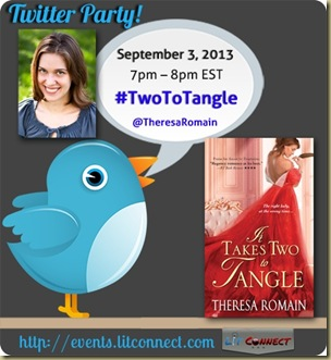 Theresa Romain-Twitter Party #TwoToTangle
