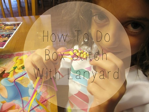 How To Do Box Stitch With Lanyard