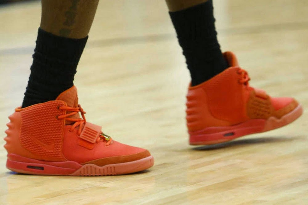 """LeBron James Practices in the """"Red October"""" Nike Air Yeezy ..."""