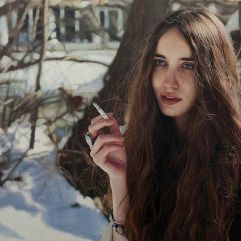 Photo-realistic Paintings by Yigal Ozeri