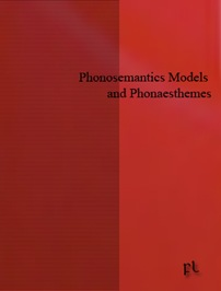 Phonosemantics Models and Phonaesthemes Cover
