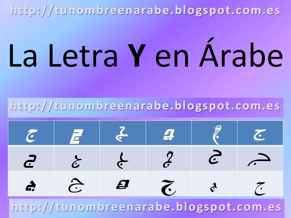 La letra Y escrita en árabe para tatuajes