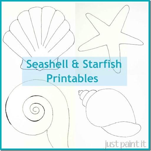 image regarding Printable Starfish Template identify Seas and Starfish Practice Printables - Merely Paint It Weblog