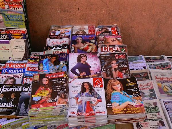 Imagini Marrakech: reviste bazar
