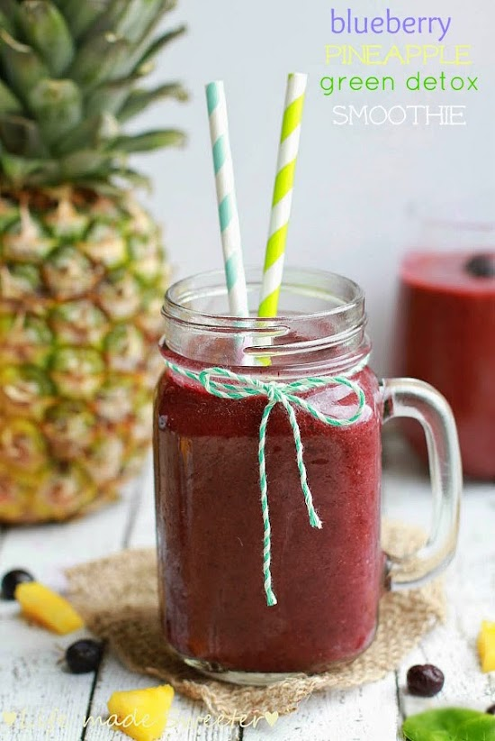 Blueberry Pineapple Green Detox Smoothie - Life made Sweeter.jpg