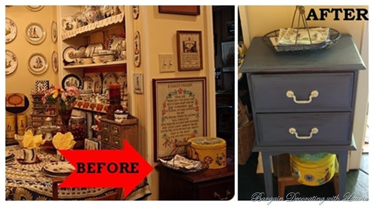 CHALK PAINT TABLE BEFORE & AFTER