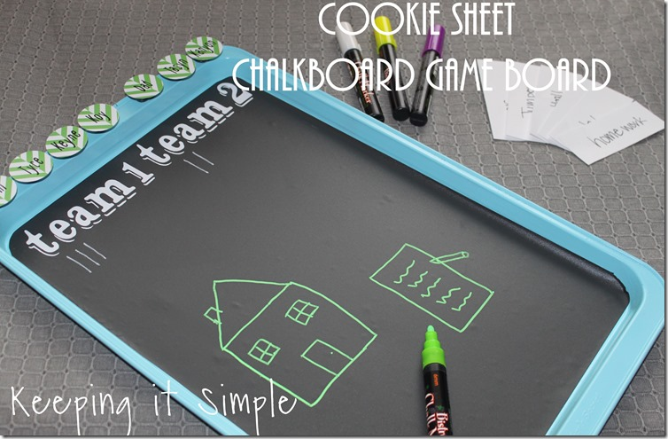 chalkboard game board
