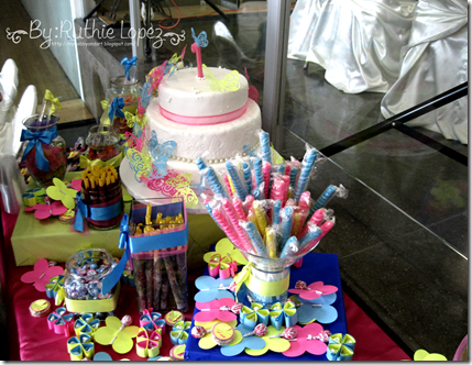 Bautizo - 1st Birthday Butterfly Themed - Butterfly Candy Bar - Baptism - Ruthie Lopez 4