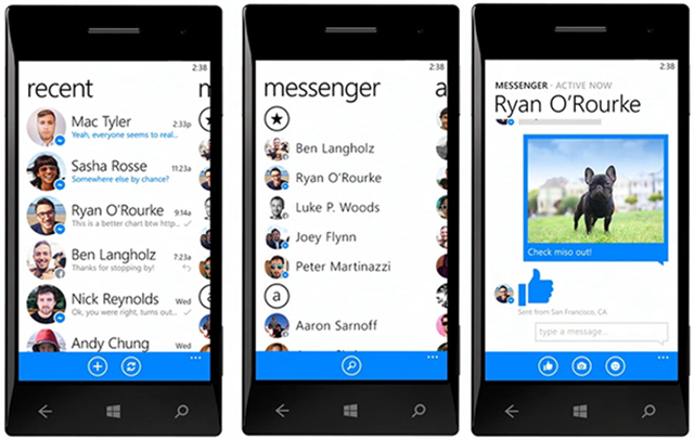 Facebook Messenger para Windows Phone