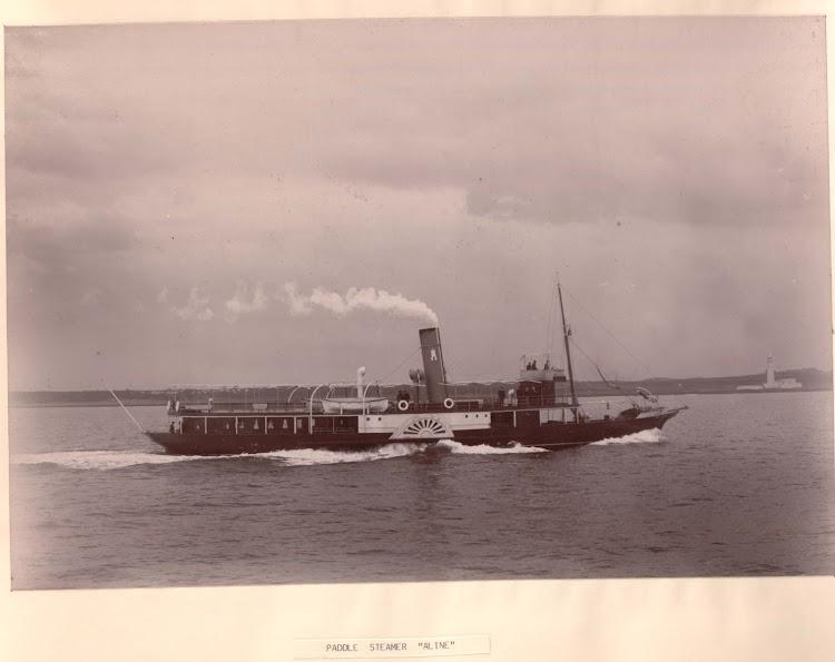 El ALINE en sus pruebas de mar en St. Mary´s Island. Foto Armstrong Whitworth..jpg