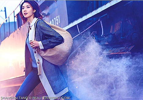 SHANGHAI TANG SPRING SUMMER 2012 jacket coat, leather bag,top and pants LIN CHILING THE RITE OF THE PHOENIX AD CAMPAIGN