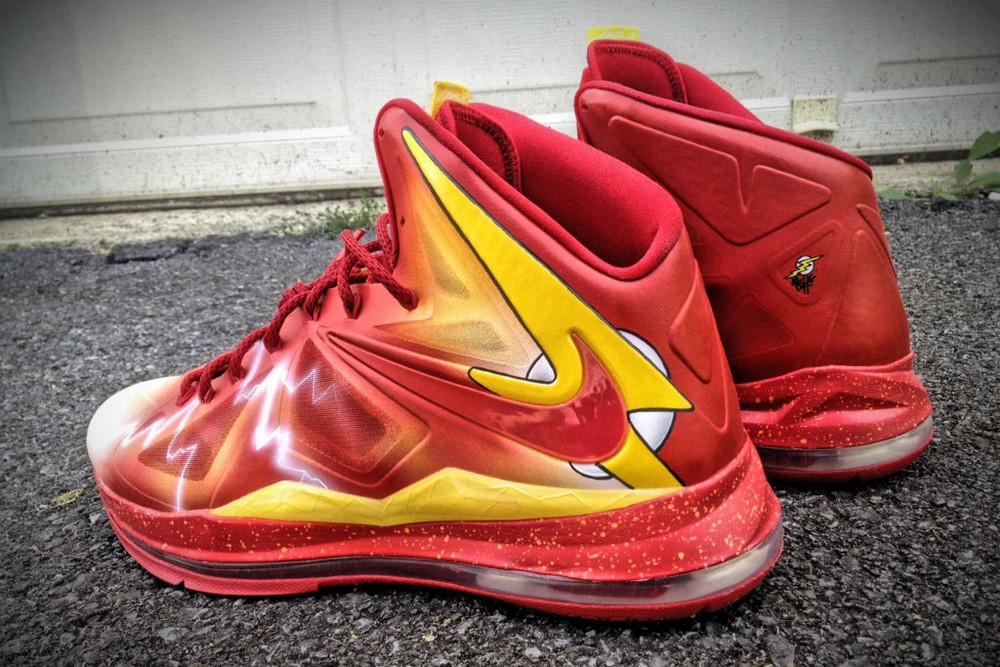 Nike LeBron X 8220The Flash8221 by Mache Custom Kicks ... 693c68a62e53