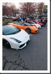 Lamborghinis at Coffee and Cars