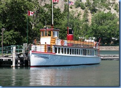 1413 Alberta - Waterton Lakes National Park - town of Waterton - Waterton Marina Upper Waterton Lake - Historic M.V. International which has been in service since 1927