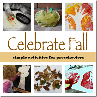 Simple Fall Activiites for Preschoolers #fall #preschool