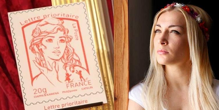 La France est devenue complètement timbrée : La Marianne inspirée d'une Femen   dans Economie femen+timbre+marianne