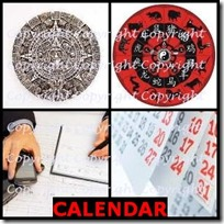 CALENDAR- 4 Pics 1 Word Answers 3 Letters