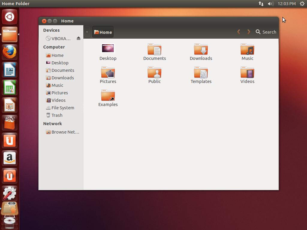 Virtuāls Ubuntu 12.10 64bit