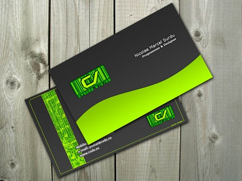Cyborg-Green-Business-card