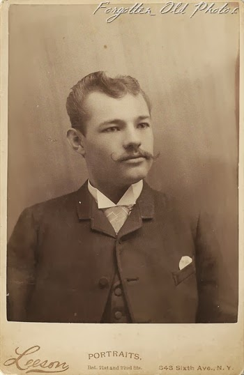Man with marvelous moustache NY  Perham Antiques Cabinet Card