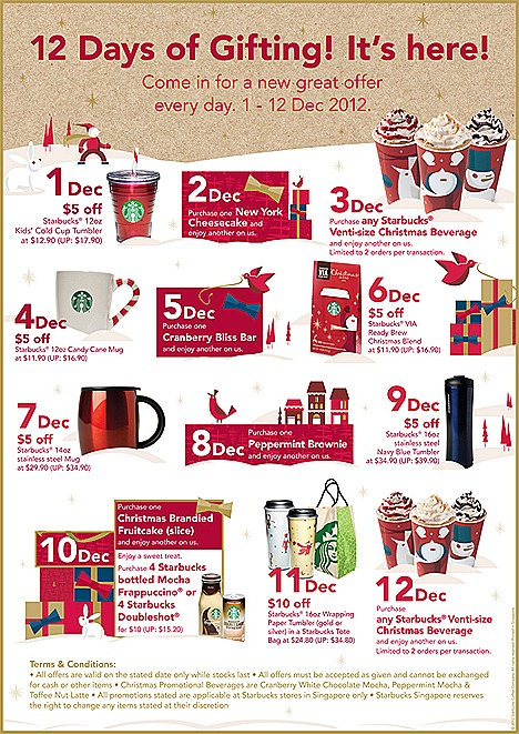 Starbucks Offers 2012 1 for 1 Christmas beverage Toffee Nut Latte, Peppermint Mocha, Cranberry White Chocolate Mocha – hot, iced or Frappuccino.jpg tumbler sweet treats deals