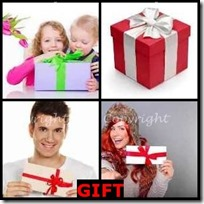 GIFT- 4 Pics 1 Word Answers 3 Letters