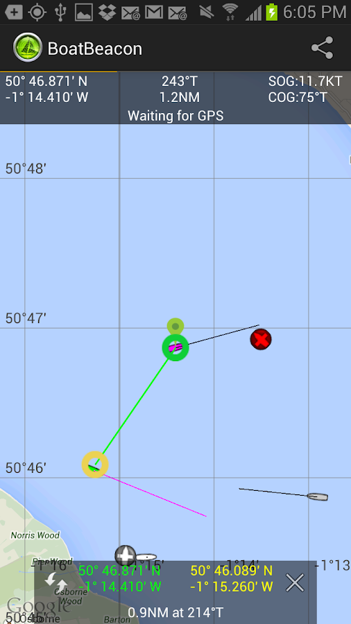 Boat Beacon - AIS Navigation- screenshot
