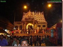 Sree Padmanabhaswamy temple at night