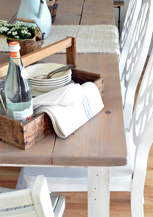 gray stain farm table