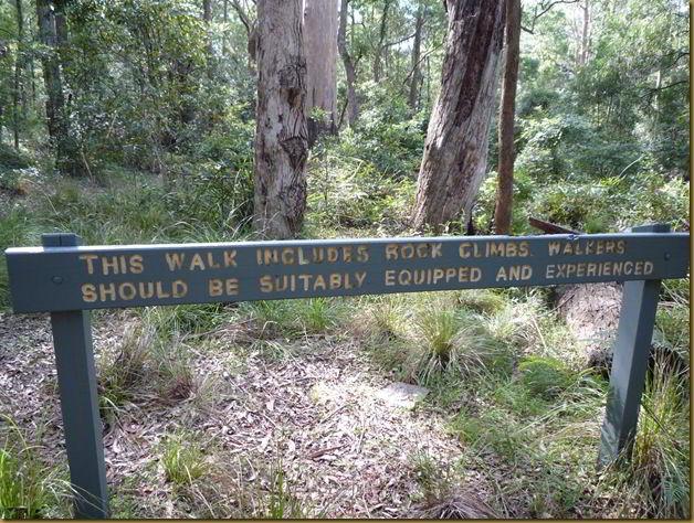 Castle Rock warning sign