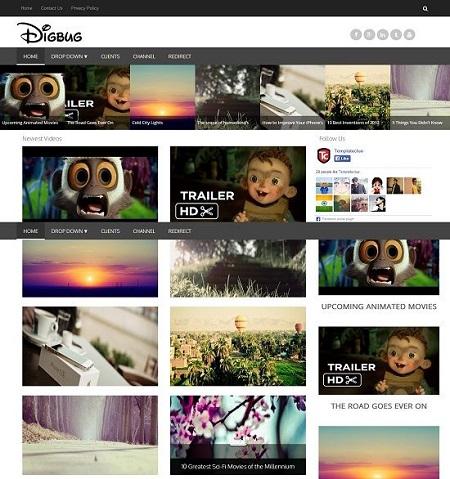 Template Blogspot - Digbug - Responsive