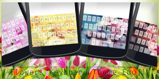 Flowers Keyboard Theme Emoji